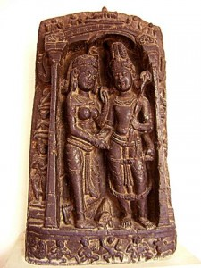 Mariage de Shiva et Parvati -  art pâla, 11e siècle, Bihar, National Museum, New Delhi