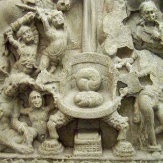 Balade au musée Guimet - L'assaut de Mâra, école d'Amaravati